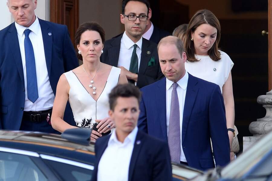 Kate Middleton et le Prince William le 18 juillet 2017 à Varsovie en Pologne