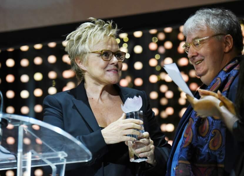 Après la reconnaissance du public, celle des professionnels pour Muriel Robin, ici au côté de Dominique Besnehard