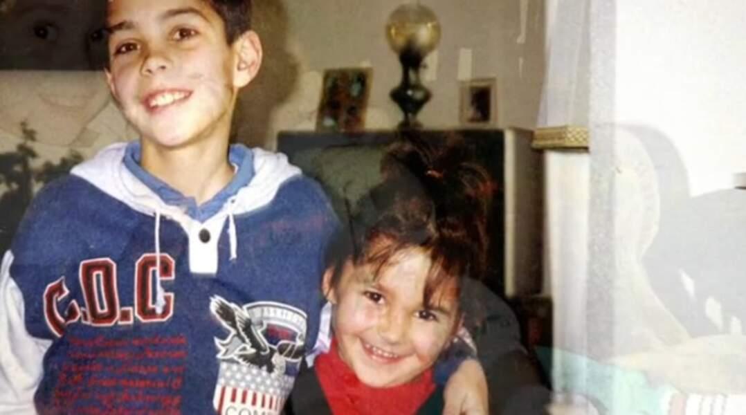 Grégory Lemarchal et sa petite soeur
