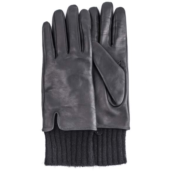 Indispensable, gants en cuir lisse, 95 € (Sandro).