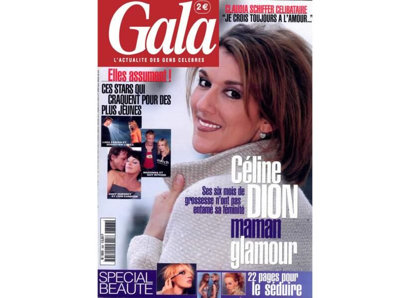 Céline Dion maman glamour