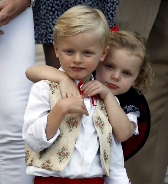 Jacques et Gabriella au Pique-nique des Monégasques, le 31 août 2018 à Monaco