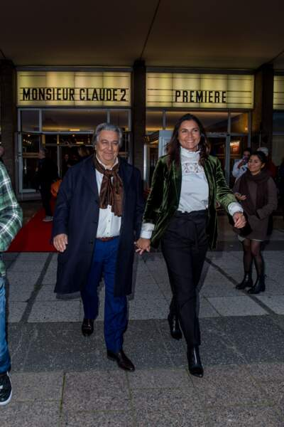 Il est rare de voir Christian Clavier accompagné d'Isabelle de Araujo