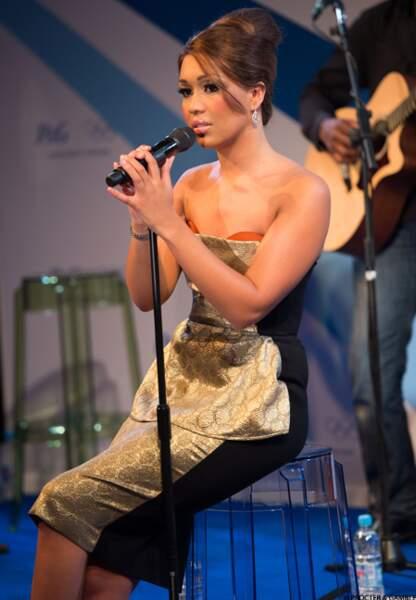 "La chanteuse Rebecca Ferguson, qui a gagné la finale de ""X-Factor"" en Angleterre"