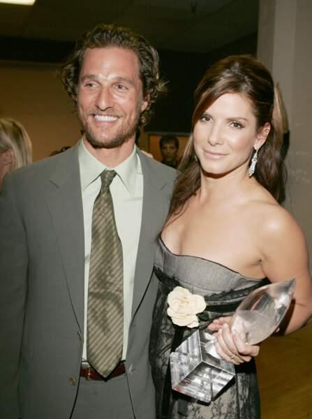 Matthew McConaughey et Sandra Bullock aux People's Choice Awards en 2006