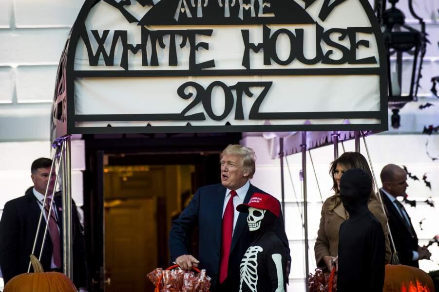 Donald et Melania Trump accueillent les enfants