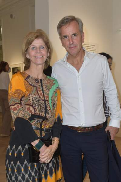 Bernard de la Villardière et sa femme Anne en juillet 2017