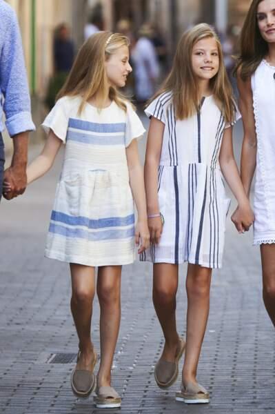 Les princesses Leonor et Sofia ont exactement les mêmes chaussures
