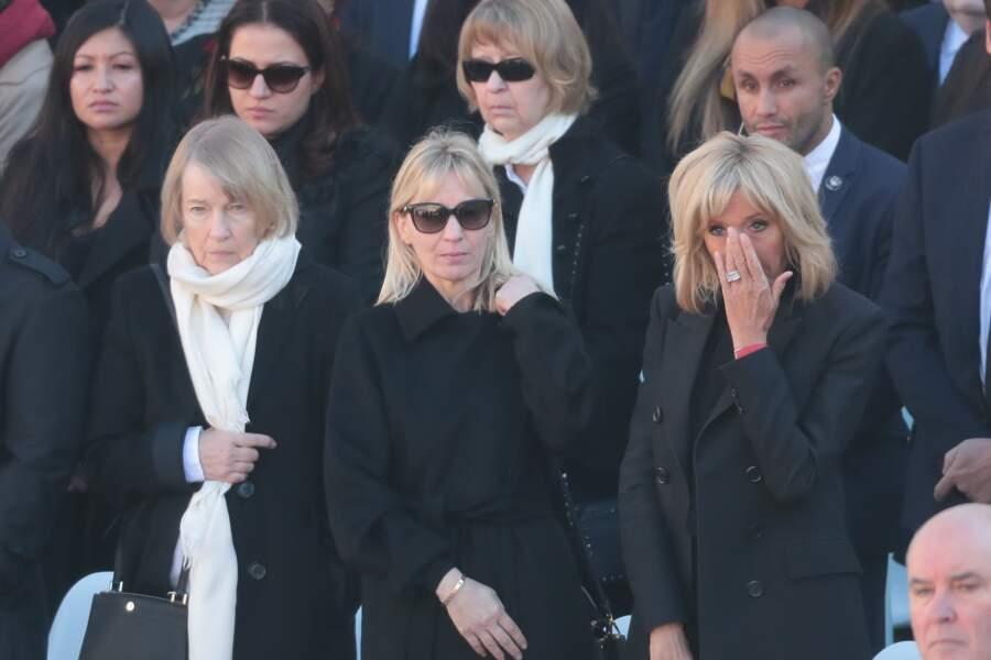 Brigitte Macron en pleurs lors de l'hommage national à Charles Aznavour ce 5 octobre