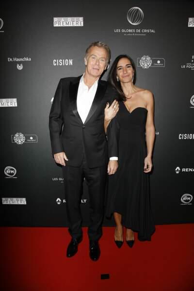Franck Dubosc est venu en compagnie de sa femme à la cérémonie des Globes de Cristal