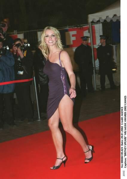 Britney Spears aux NRJ Music Awards à Cannes en 2002