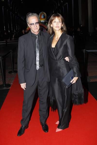 Sophie Marceau et Christophe Lambert à Paris en 2012.