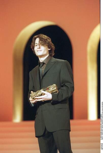 Johnny Depp lors de la cérémonie des Cesar (1999)