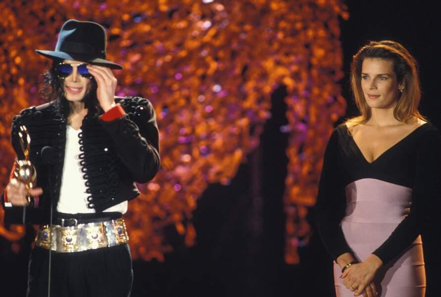 Stéphanie de Monaco et Michael Jackson en 1993 aux World Music Awards à Monaco