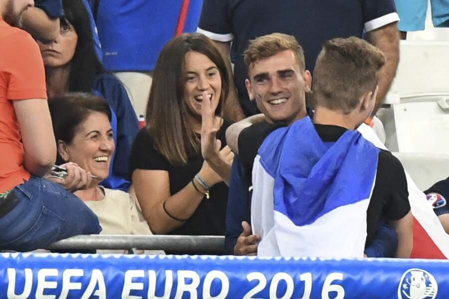 Antoine et Erika après le match France-Allemagne