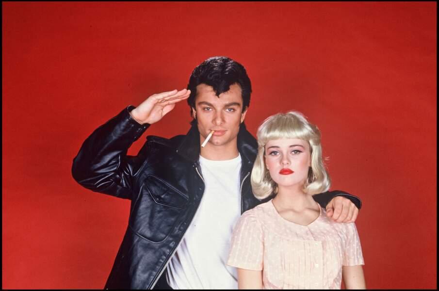 Vanessa Paradis déguisée avec David Hallyday en héros de Grease, on croit voir Lily-Rose Depp