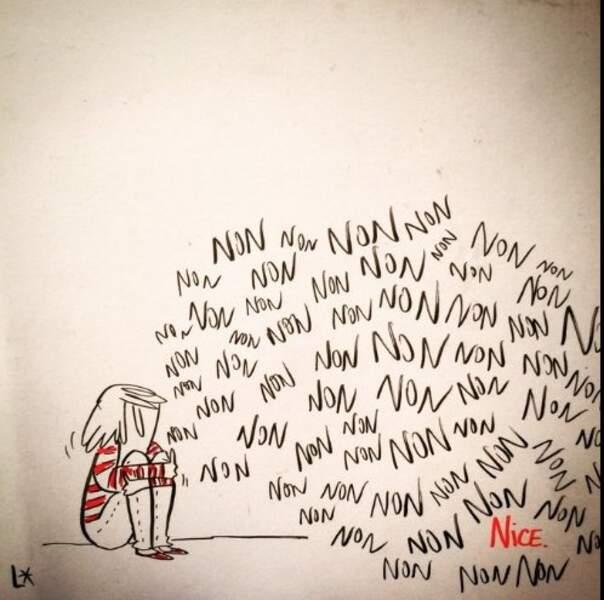 Louison qui tient un blog de dessin sur le site du Monde, a également exprimé sa frustration.
