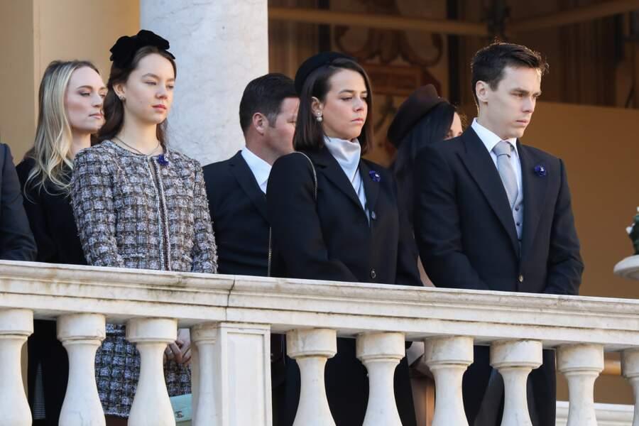 La princesse Alexandra de Hanovre, Pauline Ducruet, Louis Ducruet tous très élégants