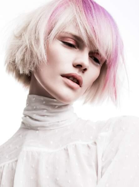 Le carré rose (Christophe Gaillet - L'Oréal Professionnel)