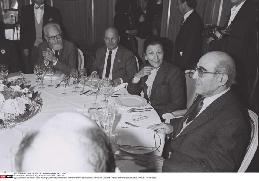 Réunion du Jury du Prix Goncourt 1987 à Drouant