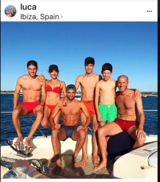 La famille Zidane au grand complet