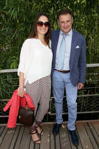 À Roland Garros, Pierre Sled qui a divorcé de Sophie Davant en 2012 a retrouvé l'amour