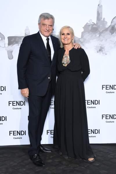 Sidney Toledano et Maria Grazia Chiur de la maison Dior, étaient à Rome pour Fendi.