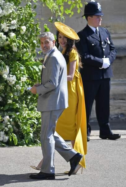 George et Amal Clooney très chic pour le mariage du prince Harry et de Meghan Markle