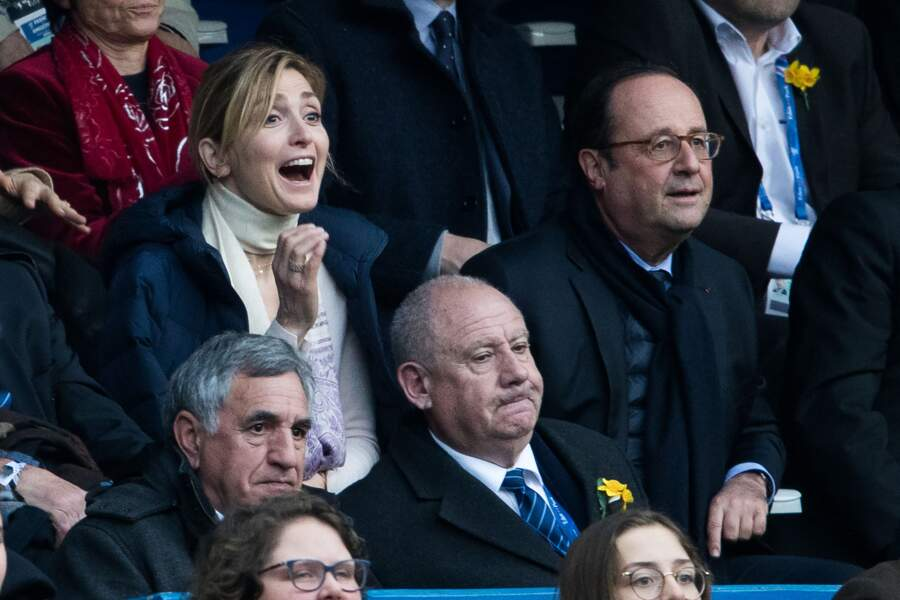François Hollande et sa compagne Julie Gayet, ravis par le résultat du match