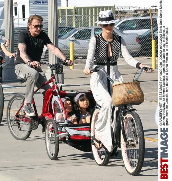 En février 2013, balade à vélo en famille à Santa Monica