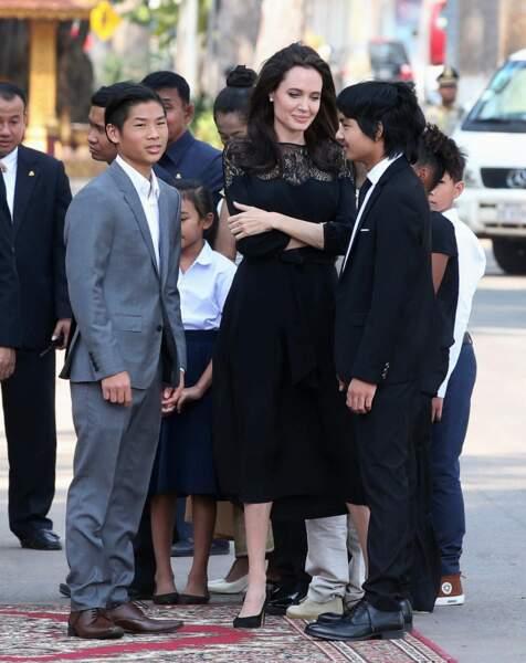 L'actrice explique que ce film lui a permis de se rapproché de son fils aîné Maddox.