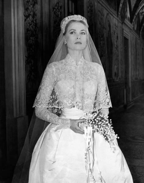 Mariage de Grace Kelly et du Prince Rainier III de Monaco en 1956