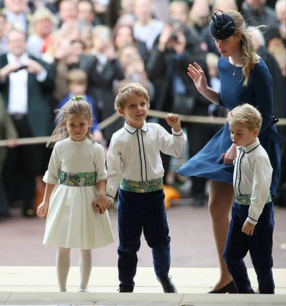 George, Charlotte et les enfants d'honneur au mariage d'Eugenie d'York