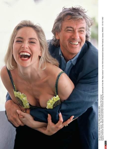 Paul Verhoeven et Sharon Stone