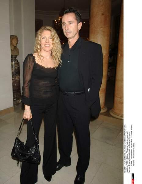 2005. Thierry Lhermitte et sa femme au Bristol