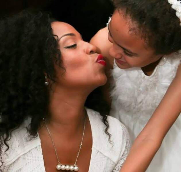 Ludivine Rétory et sa fille
