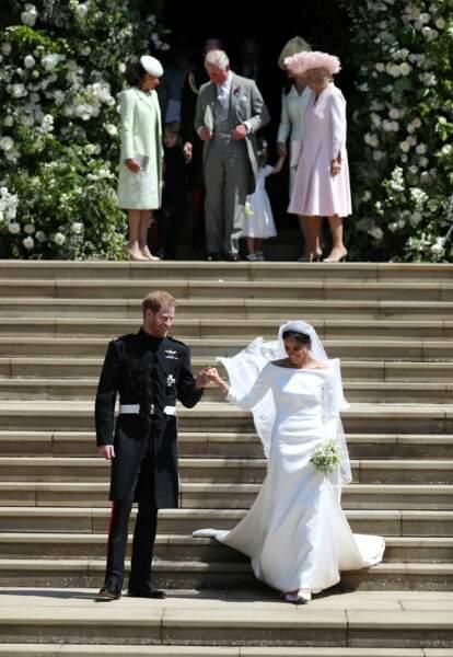 Le prince Harry et Meghan Markle mariés