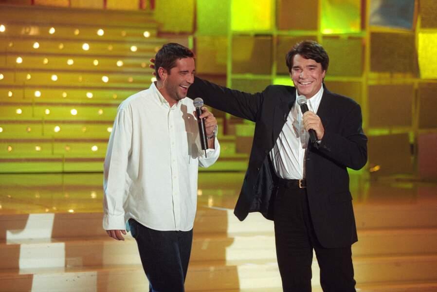 Bernard Tapie et son fils Stephane à Paris, le 1 septembre 1999.