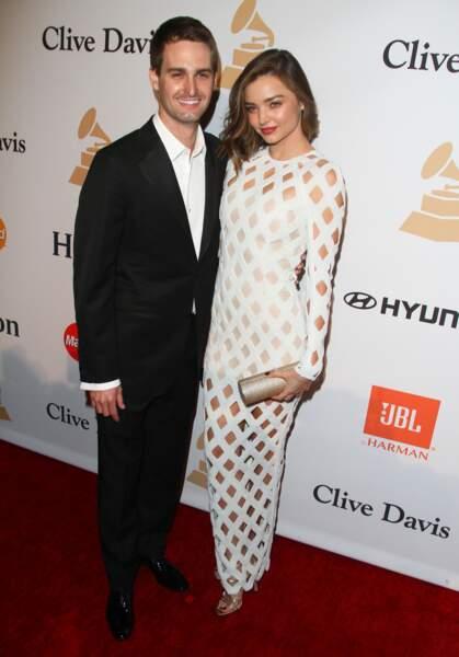 Miranda Kerr, ex-épouse d'Orlando Bloom, a épousé cette année Evan Spiegel