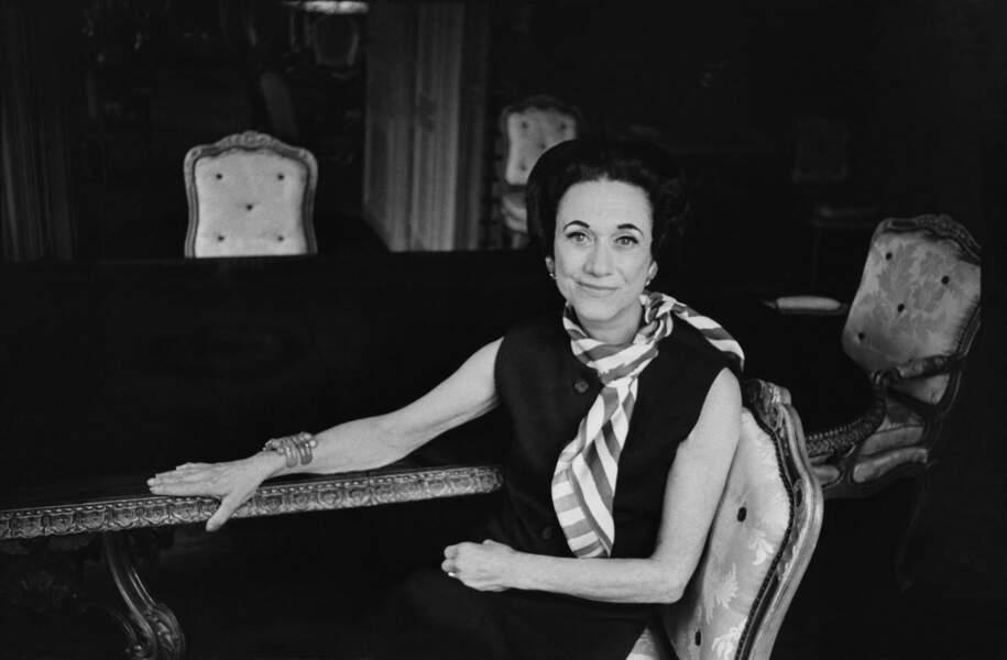 Portrait de Wallis Simpson en 1958