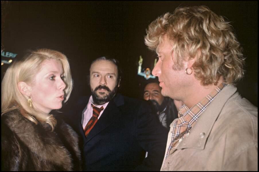 Johnny Hallyday et Catherine Deneuve, en 1980.