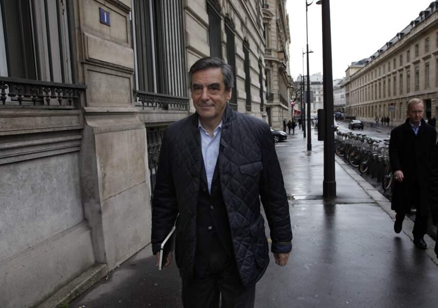 François Fillon rejoint son QG, quelques heures avant le résultat de la Primaire en Barbour