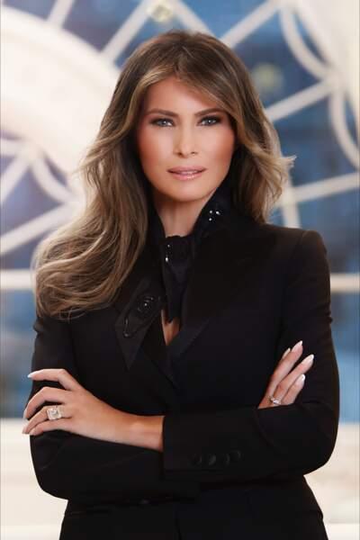 Portrait officiel de Melania Trump, première dame des Etats-Unis, le 3 avril 2017
