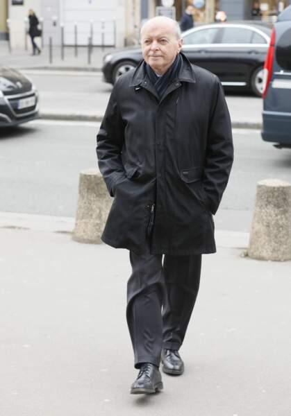 Jacques Toubon aux obsèques de Henry Chapier en l'église Notre-Dame des Champs à Paris le 4 février 2019