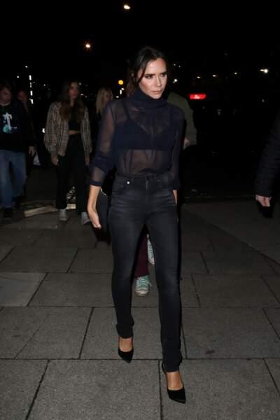 Victoria Beckham est une papesse dans le look escarpin : on aime son élégance et le choix de chaussures sans faute