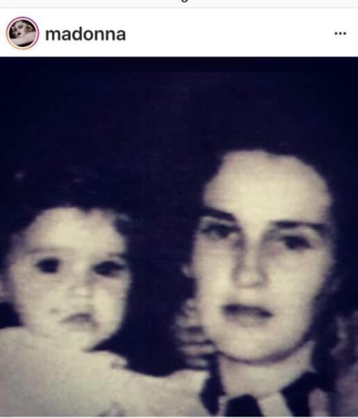Madonna et sa mère
