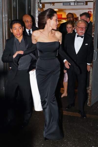 La star Angelina Jolie était accompagnée de ses enfants Pax, Shiloh, Zahara et Knox