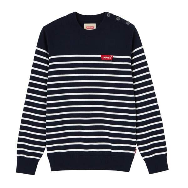 Pull marinière en coton, Levi's kids, de 2 à 16 ans, à partir de 55 €