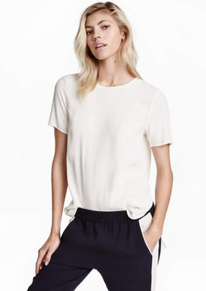 H&M -  Top à manches courtes (14,99 euros)
