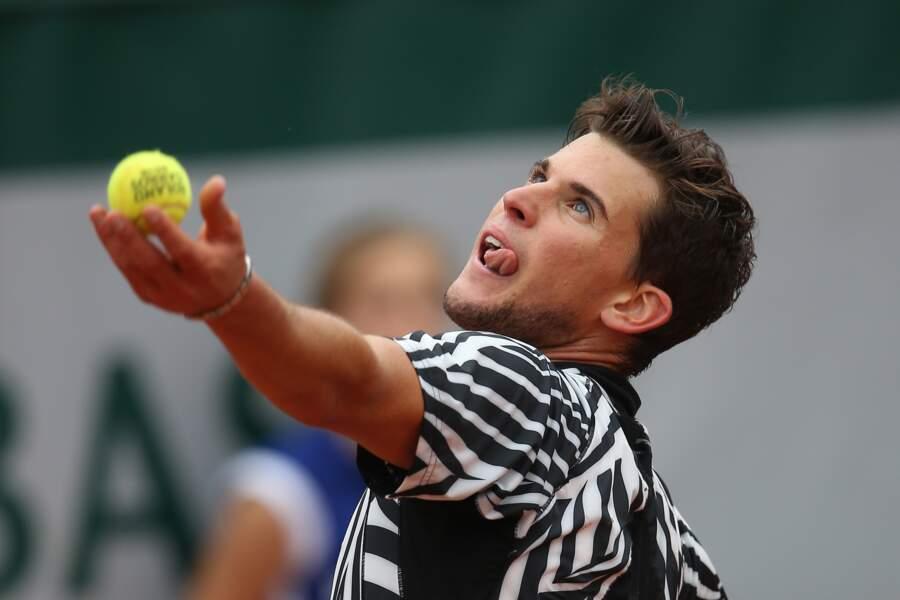 Dominic Thiem en demi-finale de Roland Garros, à Paris, en juin 2016